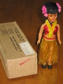 Blue Bonnet Hawaii Vintage Plastic Doll
