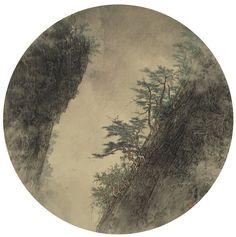 iamjapanese:  Li Huayi(李 華弌 Chinese/American, b.1948) Wandering in Mountain  2012 Ink on Silk