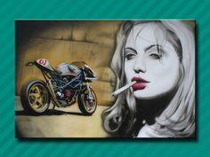akisminos Airbrush, Artist, Canvas, Painting, Character