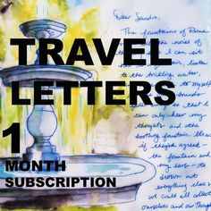 TRAVEL LETTERS One letter by JaniceArtShip on Etsy