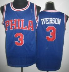 Philadelphia 76ers 3 Allen Iverson Blue Soul Throwback Revolution 30 NBA  Basketball Jerseys Wholesale Cheap ac6093678