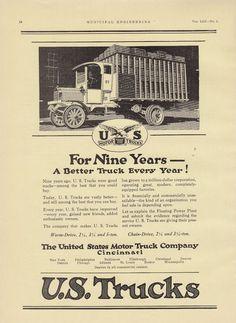 1917 United States Motor Truck Co Cincinnati Oh Ad Better Truck Every Year | eBay
