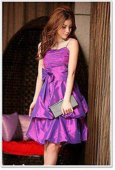 Party Semi Formal Prom Girls Dress 12yrs - Teens - Cerise Pinky Purple S M 2478cdec3