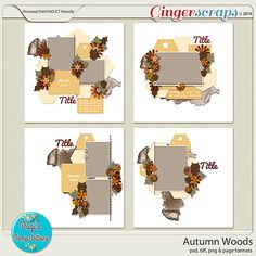 Autumn Woods by Dagi's Temp-tations! 50% off thru November 6th!  Come celebrate DSD at GingerScraps!!  Dagi's entire shop is 50% off! #dagistemptations #template #autumn