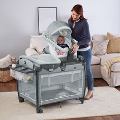 Graco Pack 'n Play Snuggle Seat Playard - Mullaly, Gray Baby Pack And Play, Best Pack N Play, Baby Gadgets, Baby Necessities, Baby Nursery Furniture, Everything Baby, Baby Needs, Baby Time, Lucca