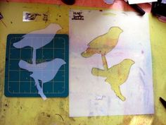 how to make stencil and mask by Glenda Tkalac #diy #art
