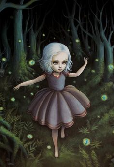 Harlow and the Fairy Ring - fine art print by mabgraves,