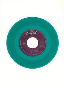 "Vintage The BEATLES ""TaxMan"" ""Birthday"" Green Vinyl Capitol Records 45 RPM"