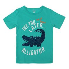 2015 New Little Maven Lovely Crocodile Baby Children Boy Cotton Short Sleeve T-shirt Top – Kiser Variety Shop