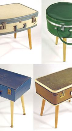 suitcase table or tables for craft fair displays