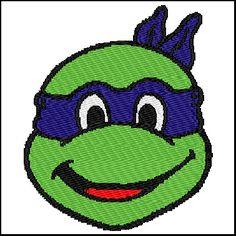 Teenage Mutant Ninja Turtle Embroidery Design - $4.00 #onselz