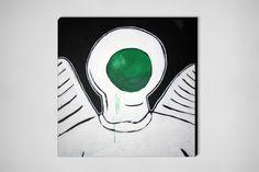 "Saatchi Online Artist: Bil Chamberlin; Acrylic, Painting ""Astronaut angel"""