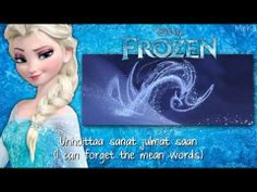 Frozen - Let It Go (Finnish) subs&trans FULL SONG - YouTube Frozen Let It Go, Letting Go, Language, Let It Be, Words, Youtube, Fun, Fin Fun, Lets Go