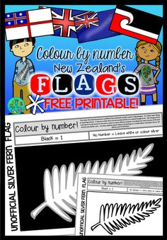 Fun, down-to-earth nature based ideas & educational resources for Grubby kids! Templates Printable Free, Free Printables, New Zealand Flag, Flag Template, Silver Fern, Kiwiana, Classroom Environment, Ferns, Learning Activities