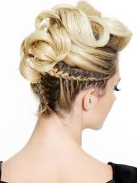 Pictures : Best Curly Updos and Half Updos for Medium Hair - Cool Half Curly Updo