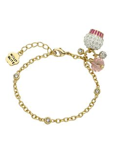 Frosted Cupcake Chain Bracelet