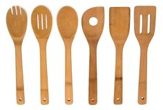 "6 Piece Set Bamboo 12"" Utensil Kitchen Wooden Cooking Tools Spoon Spatula Mixing #LipperInternational"