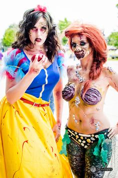 Jessica McCurry (Zombie Snow White) and Julia Williams (Zombie Ariel)