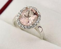 Morganite ring in white gold