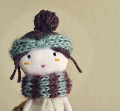 PLOUDOLL , handmade cloth dolls and clay miniatures: sweet cloth doll by ploudoll