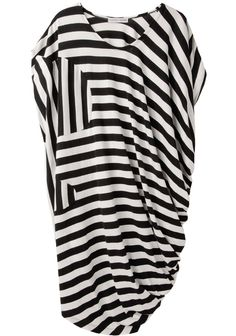 Tsumori Chisato / Asymmetric Striped Dress | La Garçonne