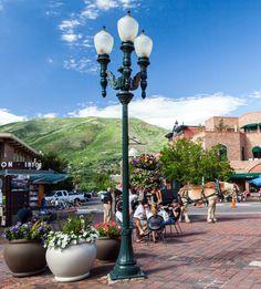 VISCO, Inc. installation, Aspen, Colorado, USA.  #castiron #ornamental #streetlighting #placemaking