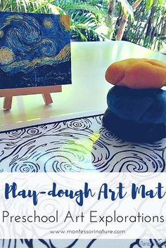 Playdough Art Mat - Preschool Art Explorations. Montessori Nature Blog | Preschool Process Art | Art Activity