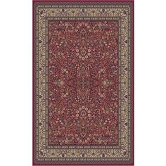 Concord Global Valencia Rectangular Red Floral Woven Area Rug (Common: 8-ft x 10-ft; Actual: 7.83-ft x 9.83-ft)