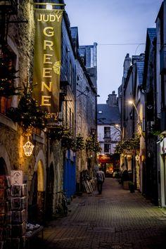 Carril de Kirwan en Navidad, Galway, Irlanda