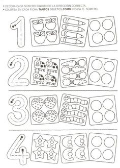 123 Manía: actividades de matemática para imprimir, resolver y colorear - Betiana 1 - Веб-альбомы Picasa Math For Kids, Lessons For Kids, Fun Math, Math Lessons, Preschool Centers, Preschool Worksheets, Pre K Activities, Educational Activities, Grande Section