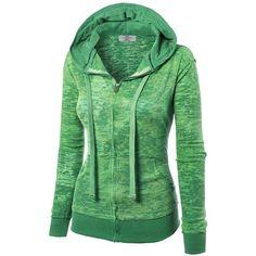 MBJ Womens Long Sleeve Burnout Thermal Zip Up Hoodie ($15) ❤ liked on Polyvore featuring tops, hoodies, zip up hoodie, thermal hoodie, thermal hoodies, thermal tops and zip up hoodies