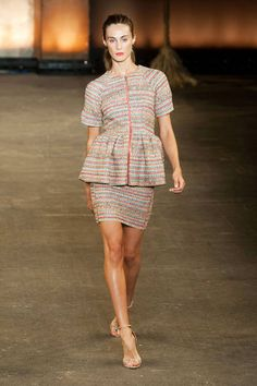 Christian Siriano Spring 2014 Ready-to-Wear Runway - Christian Siriano Ready-to-Wear Collection: if the short skirt deters you, swap it out and pair the jacket with a smart pair of pants