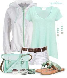 LOLO Moda: Cute spring fashion for women. Love the mint color.