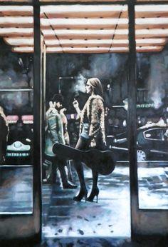 """Saatchi Искусство Исполнитель: Томас saliot; Нефть 2014 Картина """"Wild Side прогулку"""""""