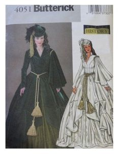 Butterick pattern 4051 for Scarlett O'Hara's curtain dress...wish I could make this & then wear  it some where