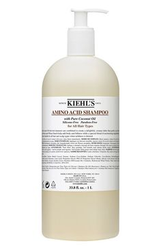 Free shipping and returns on Kiehl's Since 1851 Jumbo Amino Acid Shampoo ($56 Value) at Nordstrom.com. Amino acid and coconut oil-derived cleansers are combined to create a delightful, creamy lather that gently yet thoroughly cleanses the hair. Wheat proteins and wheat starch help add body and fullness while a special blend of moisturizing ingredients impart softness and shine.