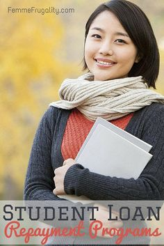 Student Loan Repayment Programs  Today I've got even more programs that will help you pay back that nasty debt.  Most of them are based on your occupation.  Some of them are pretty common.  Some of them are completely random.  http://femmefrugality.com/2013/08/student-loan-repayment-programs.html