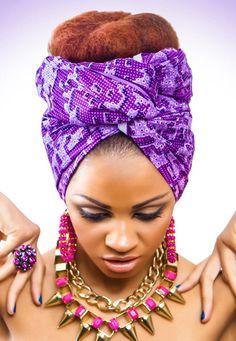 Zanjoo: Purple Blocks Print African Headwarp Material  £12.00 ~African fashion, Ankara, kitenge, African women dresses, African prints, African men's fashion, Nigerian style, Ghanaian fashion ~DKK African Men Fashion, African Dresses For Women, Africa Fashion, African Beauty, African Women, Men's Fashion, Fashion Styles, African Hair Wrap, African Head Wraps
