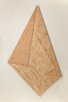 "Folded Plywood 2, 2011, 72""x42""x.75"", plywood and glue"