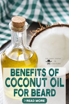 Amazing benefits of coconut oil for your beard and as well as skin. It works great if you have skin rash or irritation. Here you can discover the benefits and uses of coconut oil for your beard. Read more about coconut oil properties at beardtrimandgroom.com. #beardgrowth #coconutoil #beardgrooming Natural Beard Growth, Beard Growth Tips, Beard Tips, Coconut Oil For Beard, Best Beard Care Products, Diy Beard Oil, Growing Facial Hair, Patchy Beard, Beard Wash