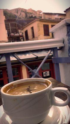 Coffee next to #Acropolis, #Athens, #Greece