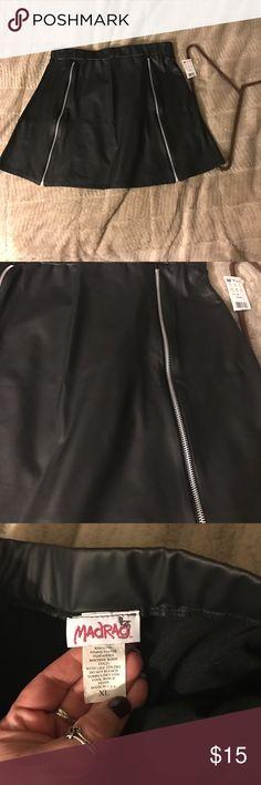 Short black skirt Short black skirt. Faux zippers along the front. madrag Skirts Mini