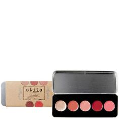 <Stila colour me pretty convertible lip and cheek palet> - Really nice and varied colors, but what I mostly like about this type of palets is that they are both for lip and cheek