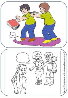 Play Therapy Activities, Activities For Kids, Stop Bullying, Family Guy, Clip Art, Comics, School, Blog, Fictional Characters