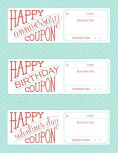 Free Printable Fillable Birthday Anniversary And Valentines Day Coupon