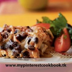 Baking this Mexican dish cuts out fat but keeps the flavor. Toss in some brown rice with the beans for a source of complete protein. Recipe on MyPinterestCookBook.tk
