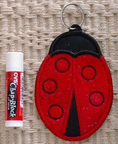 Ladybug Key Ring Chapstick Holder