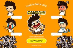 Line sticker indonesia, tami's daily life