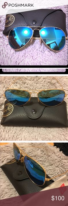 Ray-Ban Original Aviator Gold Matte Sunglasses Like new. Barely worn. Ships asap. Will come with case! 💜 Ray-Ban Accessories Sunglasses