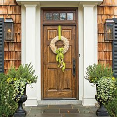 Make a Fall Wreath with Corn Husk and Ribbon  - Southern Living
